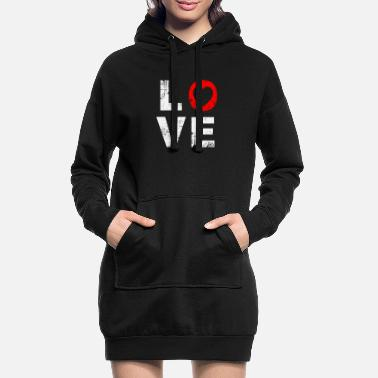 Love With Heart love with heart - Women's Hoodie Dress