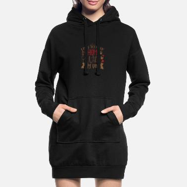 Basketball I Like to Stay Home With My Dog - Women's Hoodie Dress