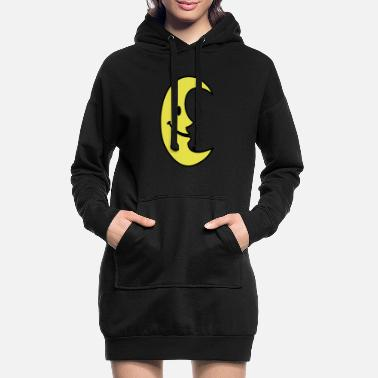 Provocation Smiley Lune - Robe sweat Femme