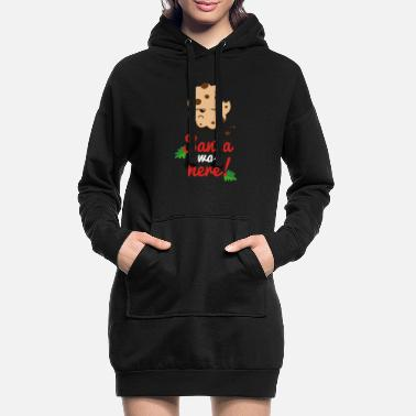 Was Santa was here - Robe sweat Femme