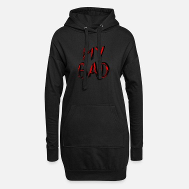 Dubstep My Bad // Rot Schwarz - Frauen Hoodiekleid