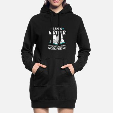 Staff I'm A Writer I Make The Voice In My Head Work - Women's Hoodie Dress