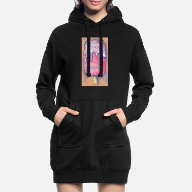 Colour Sweet cold colourful ice cream. Hot summer time. - Women's Hoodie Dress