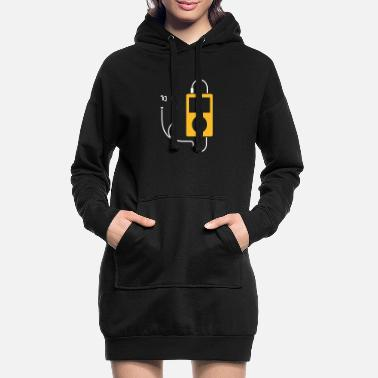 Mp3 / MP3-Player - Frauen Hoodiekleid