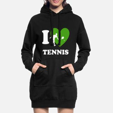 I love Tennis - Frauen Hoodiekleid