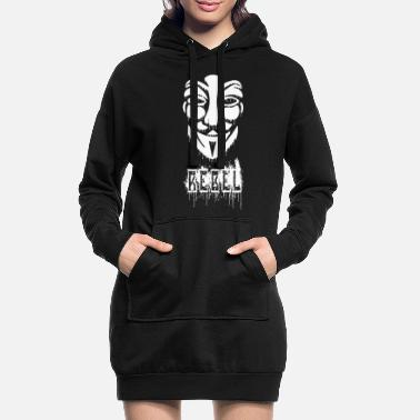 Anonymous Anonymes Graffiti - Frauen Hoodiekleid