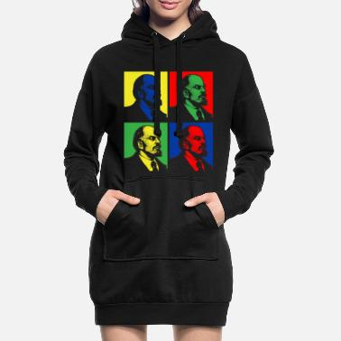Pop Art Lenin - Frauen Hoodiekleid