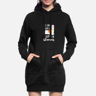All you need is love and LLamas - Women's Hoodie Dress