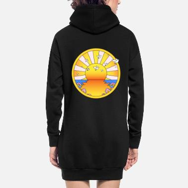 Creme LSD California Orange Sunshine - Hoodie kjole dame