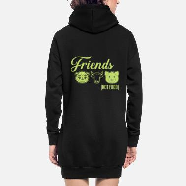 Animal Vegan animal lover animal rights activist vegan vegan - Women's Hoodie Dress