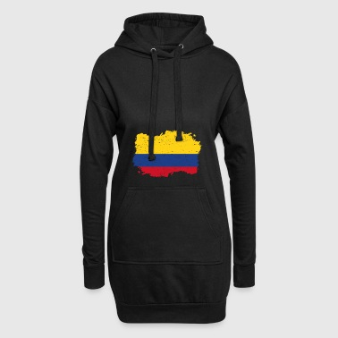 Roots Drapeau pays natal Colombie .png - Sweat-shirt à capuche long Femme