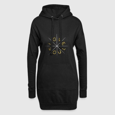 Love Soul Love in Gold White Hipster Gift - Hoodie Dress