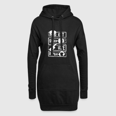 Eat Sleep Vape Repeat - Vaping Vapor Subohm Liquid - Hoodie Dress
