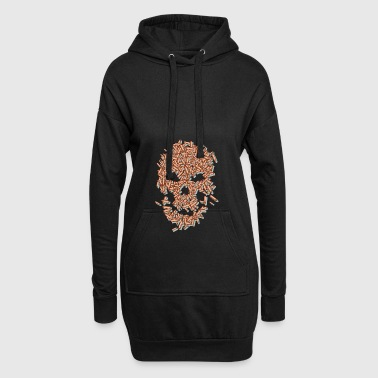 Skull from cartridge cases - Hoodie Dress