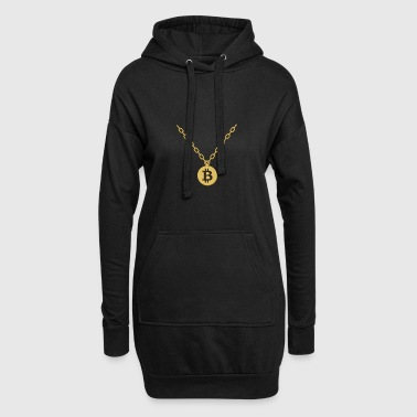 Bitcoin Bling Necklace Blockchain Cryptocurrency - Hoodie Dress