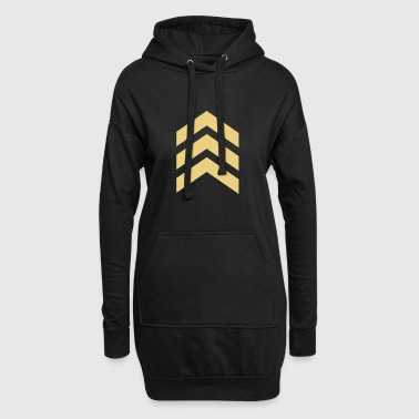 Arrow, military, army, insignia, feather, symbols - Hoodie Dress