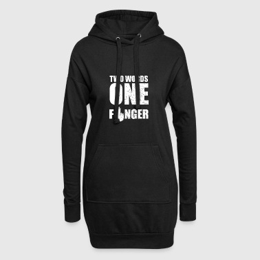 Badass fies mean Stinkfinger wanker - Hoodie Dress