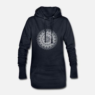 India mandala 17 wit - Hoodiejurk