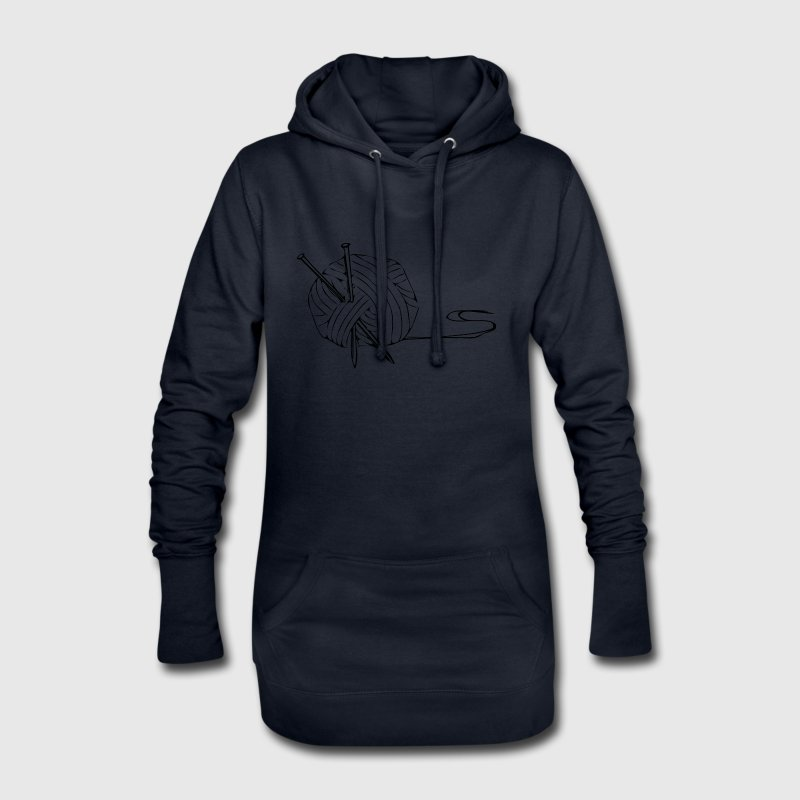 c91ca7322d aiguilles à tricoter en tricot cadeau idée cadeau laine - Sweat-shirt à  capuche long