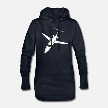 Jet Private Jet Airplane Jet Jet - Women's Hoodie Dress