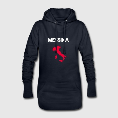 Street of Messina Italy Sicily - Hoodie Dress