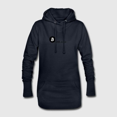 Bitcoin, gold for nerds. Black version. - Hoodie Dress