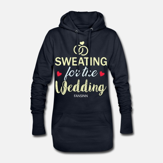 Alliance Sweat-shirts - Bachelorette de mariage partie mariage cadeau d'amour - Robe sweat Femme marine