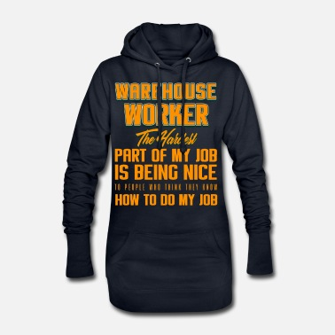 Transport WAREHOUSE WORKER My Job - Women's Hoodie Dress