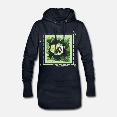 24 jungle panda - Women's Hoodie Dress