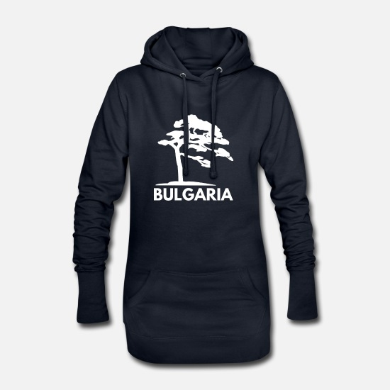 Gift Idea Hoodies & Sweatshirts - bulgaria Bulgaria - Women's Hoodie Dress navy