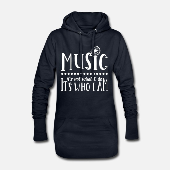 Discothek Hoodies & Sweatshirts - Music musicians - Women's Hoodie Dress navy