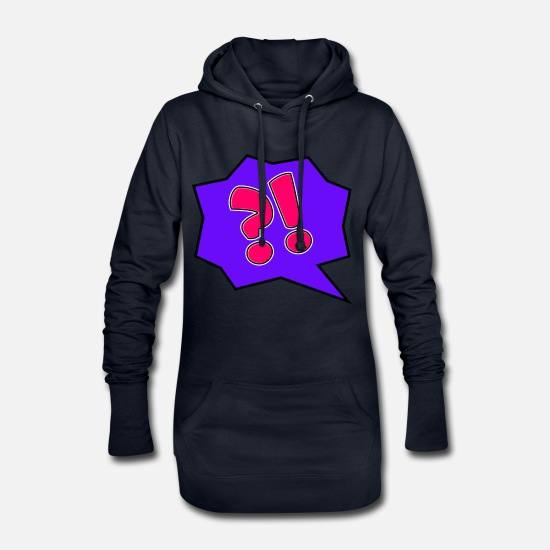 Symbol  Hoodies & Sweatshirts - What - Women's Hoodie Dress navy