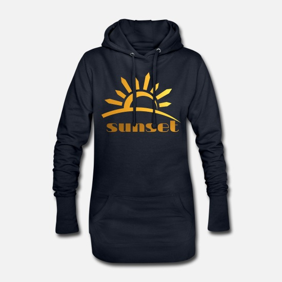Nature Sweat-shirts - coucher du soleil - Robe sweat Femme marine