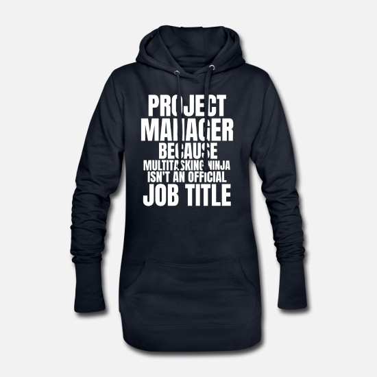 Project Hoodies & Sweatshirts - Project Manager - Women's Hoodie Dress navy