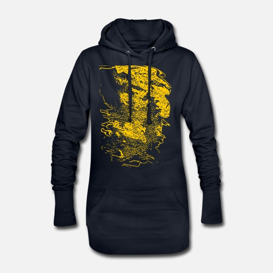 Abstract Hoodies & Sweatshirts - abstract - Women's Hoodie Dress navy