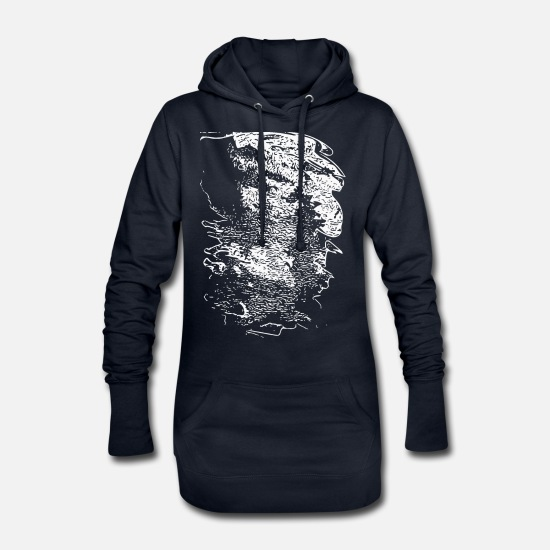 New Hoodies & Sweatshirts - abstract - Women's Hoodie Dress navy