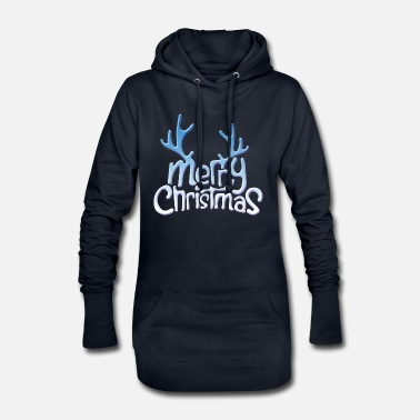 Merry Christmas antler - Women's Hoodie Dress