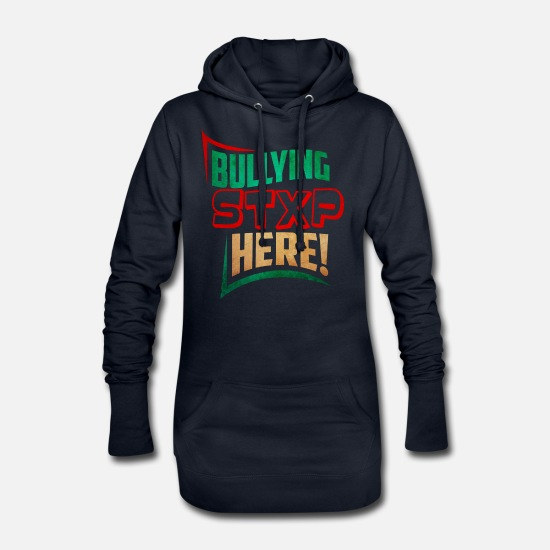 Bully Hoodies & Sweatshirts - Bullying Against Bullying Stops the bullying spell - Women's Hoodie Dress navy