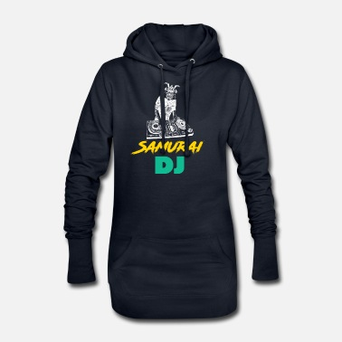 Asian Samurai DJ - Japanese, Japan, Disco - Women's Hoodie Dress