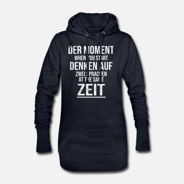 Language the moment think in two languages - Women's Hoodie Dress
