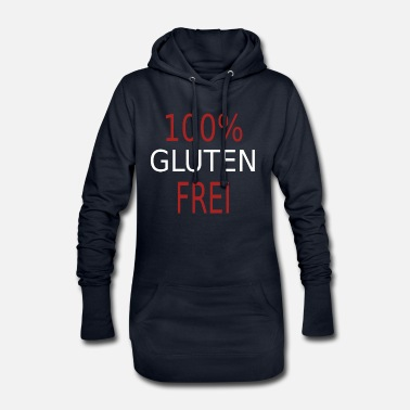 Cool funny cool 100% GLUTEN FREE gift - Women's Hoodie Dress