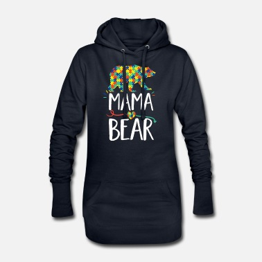 Mama Bear design Autism Awareness For Moms - Women's Hoodie Dress