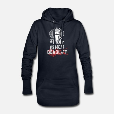 Weight Bench Squat, bench, lift - fitness, gym - Women's Hoodie Dress