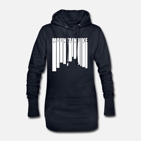 Bicycle Hoodies & Sweatshirts - mountain bike - Women's Hoodie Dress navy