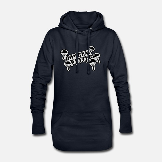Paintball Hoodies & Sweatshirts - bombenwetter_1__f2 - Women's Hoodie Dress navy