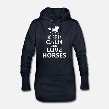 Keep Calm And Love Horses - Women's Hoodie Dress