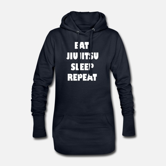 Jiujitsu Hoodies & Sweatshirts - Jiujitsu eat sleep repeat - Women's Hoodie Dress navy