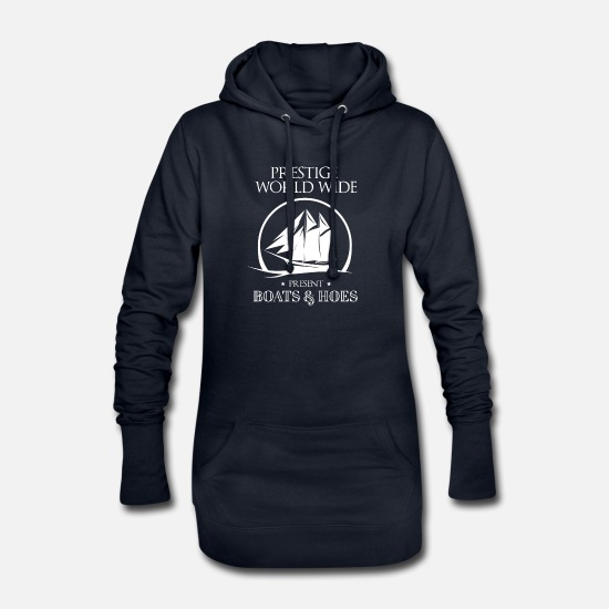 Boats Hoodies & Sweatshirts - Prestige World Wide Present Boats & Hoes - Women's Hoodie Dress navy