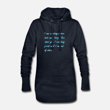 Quotes Love quote (stars) - Women's Hoodie Dress