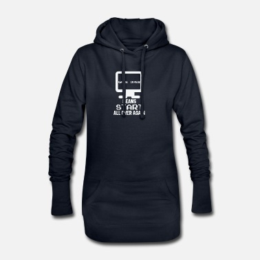 Over Gamer over - Now Start Over - Women's Hoodie Dress